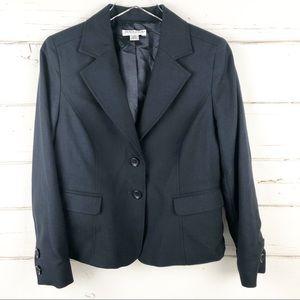 Pendleton Petite Blazer Navy Jacket 100% wool